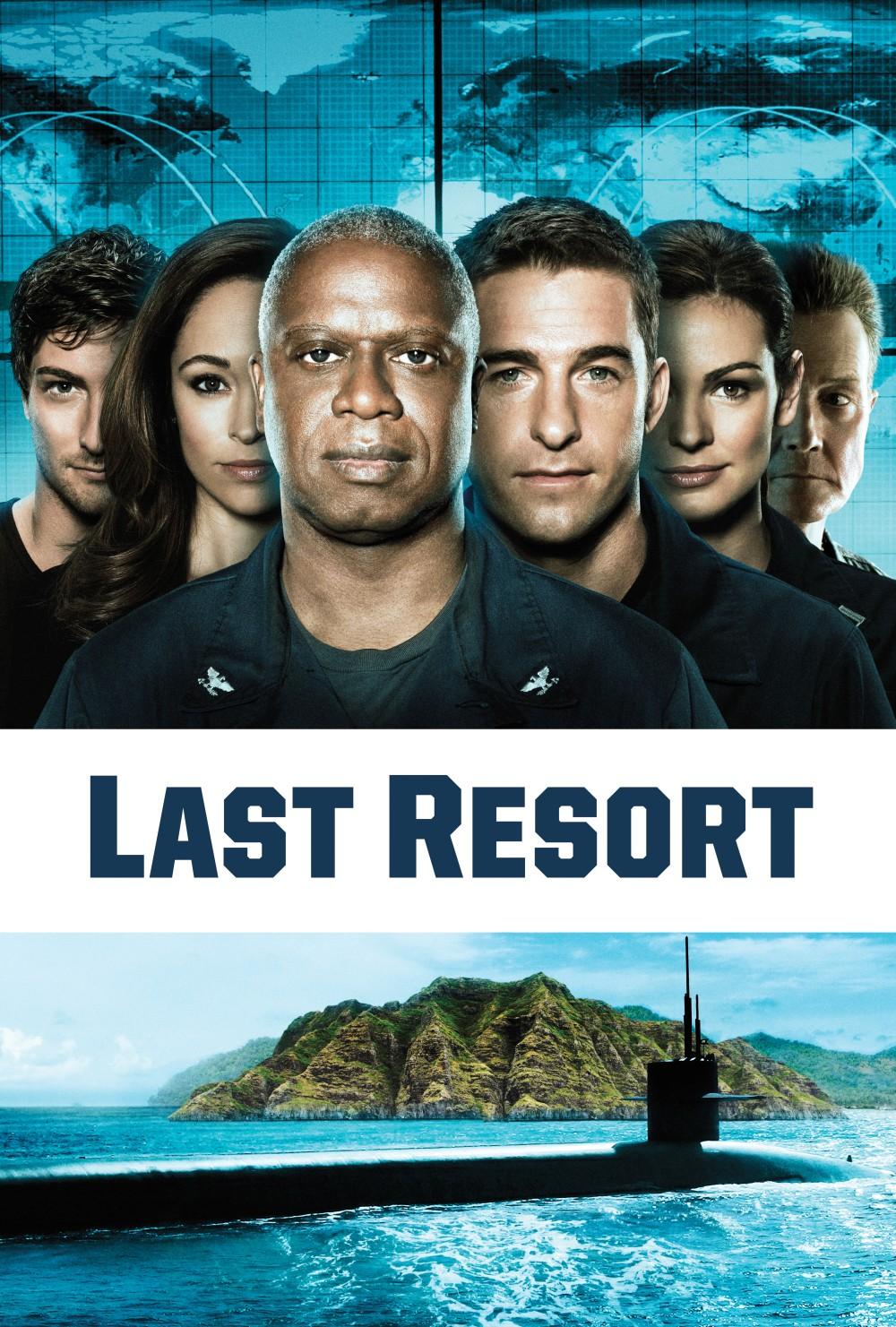 Last Resort : Après avoir refusé d'obéir à un ordre de tir de missiles nucléaires, l'équipage d'un sous-marin américain fuit jusqu'à un point reculé de la planète. Apatrides et traqués, les marins décident de fonder eux-mêmes leur patrie ! Le plus petit pays du monde à avoir l'arme nucléaire... ----- ... Acteurs : Andre Braugher, Scott Speedman, Robert Patrick Genre : Drame Statut : Annulé - Le 16 novembre 2012, ABC a annulé la série, mais les 13 épisodes produits seront tous diffusés Note spectateurs :  3,7/5 (294) Date de diffusion : Juillet 2013